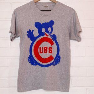 Vintage 80s Chicago Cubs Single Stitch Graphic Tee